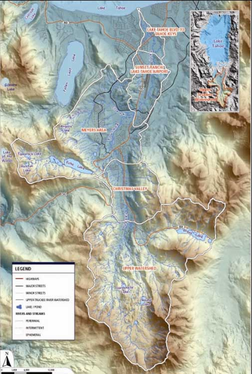 upper truckee watershed map