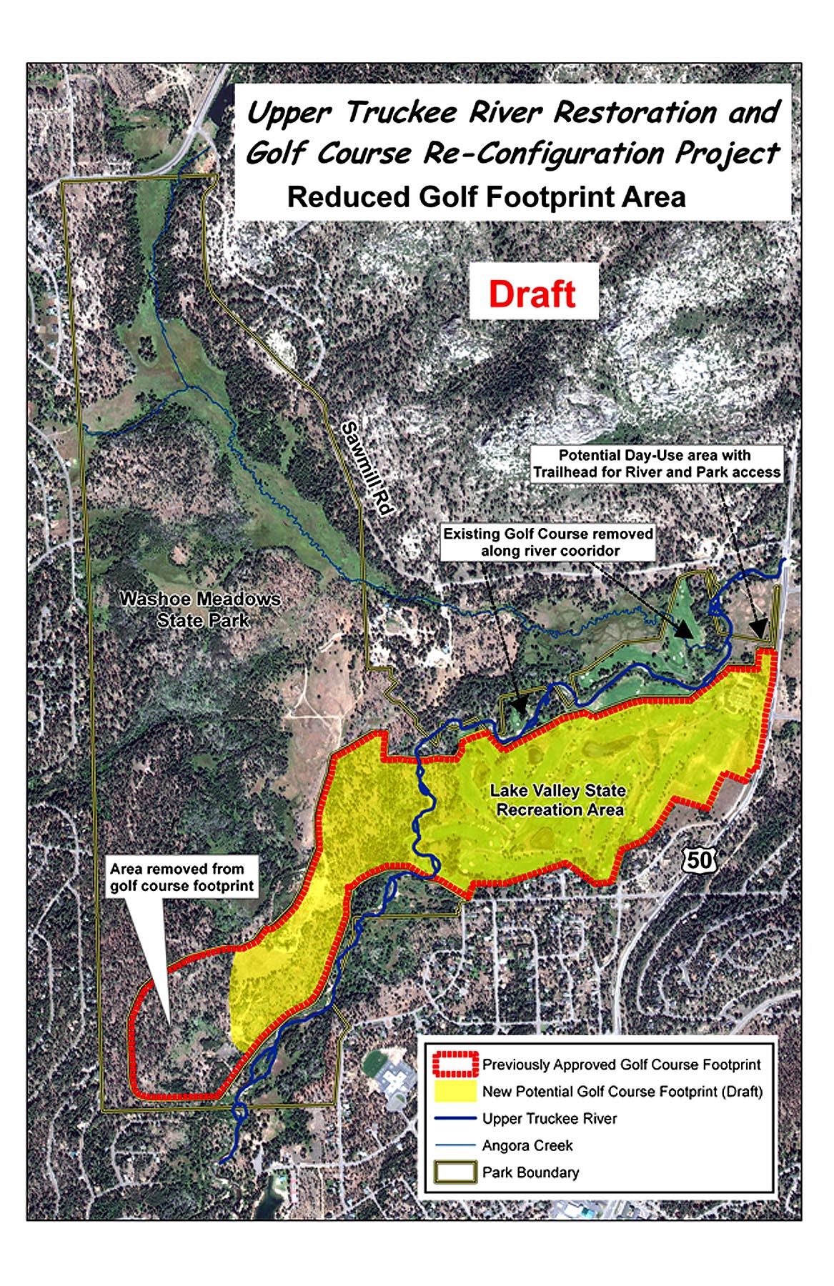 Upper Truckee River Restoration Map