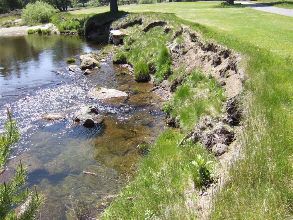eroded upper truckee river banks