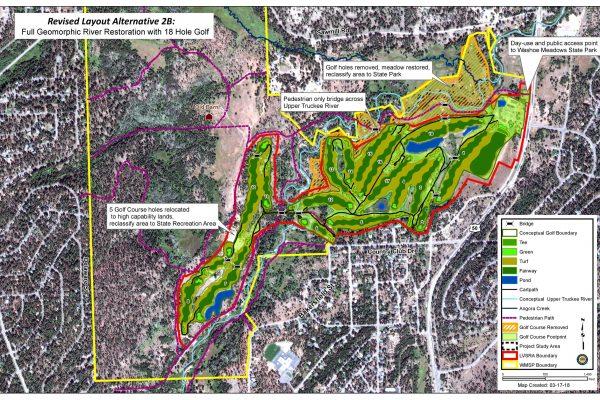 Alternative 2B: Full Geomorphic Restoration with 18 Hole Golf Course